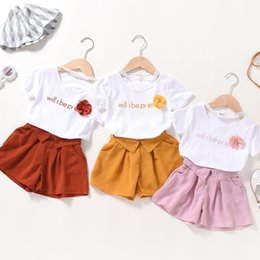 $enCountryForm.capitalKeyWord NZ - Two-piece girl set Korean version of the lace collar short-sleeved fashion children's clothing Korean version of the new children's summer