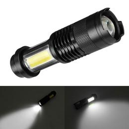 Flashlight Pens Wholesale Australia - Portable Mini Q5 COB LED Flashlight Camping Pocket Pen Torch Lamp 3 Modes Zoom Waterproof Outdoor Bike Cycling Light CAR