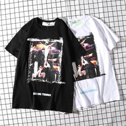 Discount t shirts new trends - Brand OF White Box LOGO Classic God Pattern Print 19 Designer New Trends Couple White Black T-Shirt High Quality Free Sh
