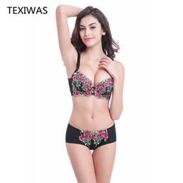 $enCountryForm.capitalKeyWord NZ - wholesale Sexy Bra Set Women adjustable bra Multi-color A B C cup Lingerie set Brief Lingerie Lace Embroidery Bra and Panties Set