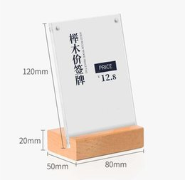 Office & School Supplies Hearty Acrylic T 1.3mm Clear Plastic Desk Sign Label Frame Price Tag Display Paper Card Holders Acrylic Label Holder Stand Frame 50pcs