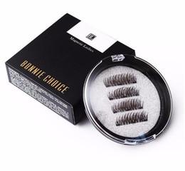 $enCountryForm.capitalKeyWord NZ - 2019 fashion Magnetic Eyelashes With 3 Magnet False Eyelashes Handmade 3d Eye Lashes 4pcs 2pcs Eye Makeup Kit
