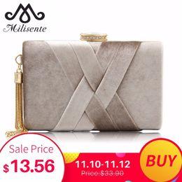 $enCountryForm.capitalKeyWord NZ - Milisente 2018 New Arrival Women Clutch Bags Top Quality Suede Clutches Purses Ladies Tassels Evening Bag Wedding Clutches D18110106