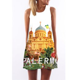 $enCountryForm.capitalKeyWord Australia - 5 Sizes Urban Leisure Summer Fashion Castle 3D Digital Printed Polyester Dress Round Neck Sleeveless Midi Vest Skirt A0350