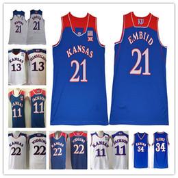Top piercings online shopping - Top Quality Kansas Jayhawks College Basketball Paul Pierce Joel Embiid Men Josh Jackson Wilt Chamberlain Jerseys