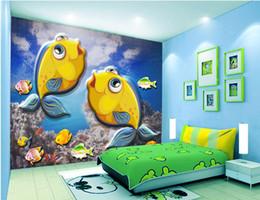 $enCountryForm.capitalKeyWord Australia - WDBH 3d wallpaper custom photo Underwater world cartoon fish cute children's room home decor 3d wall murals wallpaper for walls 3 d