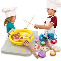 $enCountryForm.capitalKeyWord Australia - Children's Play House Wooden Kitchen Toy Hot Pot Toy Chopsticks Clip Clip Music Set Girl Kitchen Toys Children Educational Toys