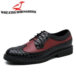 Leather Shoes Brogues Australia - Dropshipping 2018 new fashion men business leather shoes male casual flats brogue shoes oxford wedding dress leather QB-29
