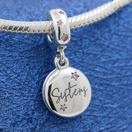 4f296b6cd 2019 New DIY Loose Bead 925 Sterling Silver Forever Sisters Hanging Dangle  Charm Fits European Pandora Jewelry Bracelet Necklaces& Pendant