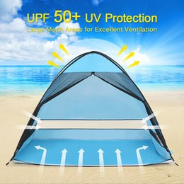 pop up beach shade 2019 - NEW Beach Tent Sun Shelter with Anti Mosquito Mesh Outdoor Automatic Pop up Tent Cabana Sun Shading Anti UV Fishing chea