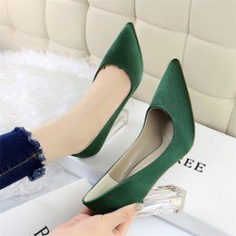 kitten heel glitter shoes UK - Z02 new Real leather high heels dress shoes sexy fashion used for party professional banquet women's shoes