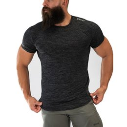 Compression Short Sizing Australia - Quick Dry Compression Men's Short Sleeve T-shirts Running Shirt Fitness Tight Tennis Soccer Jersey Gym Echt T-shirts Size M-xxl