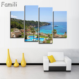 $enCountryForm.capitalKeyWord Australia - Unframed Fashion 4Piece Beach House Modern Wall Art HD Picture Canvas Print Canvas Painting for Living Room Modular picture