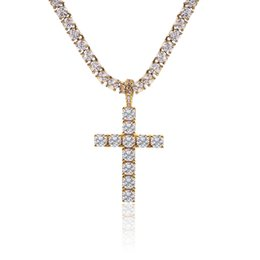 $enCountryForm.capitalKeyWord Australia - USENSET Iced out Key of Life Bling CZ Cross Pendant Necklace Set Men Hip Hop Charm Jewelry Gift