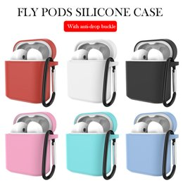 $enCountryForm.capitalKeyWord NZ - For Huawei flypods case protector silicone soft anti-drop buckle flypods case reserved charging hole dustproof case protection