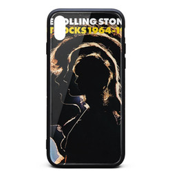 Iphone Back Hot Pink Australia - IPhone X Case,iPhone XS Case The Rolling Stones Hot Rocks 1964-1971 9H Tempered Glass Back Cover TPU Bumper Shockproof Phone Case