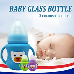 $enCountryForm.capitalKeyWord Australia - Silicone case Baby Bottle Infant Grip Handle Avent Natural Wide Mouth Feeding Safe 2018 New Arrival High Quality