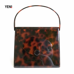Red Leopard Print Clutch Bag Australia - Fashion Brand Designer Women New Wallet Acrylic Amber Luxury Evening Bags Elegant Leopard Print Party Prom Handbag Casual Clutch