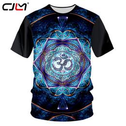 3d Flower Tee Australia - Cjlm Men Casual Tshirt Black Summer Top 3d Print Flower Mandala T-shirts Man Hip Hop Sportwear Jerseys Homme Crewneck Tees Shirt Y190507