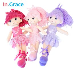 handmade cushion dolls Australia - In.Grace Ballerina girl dolls beautiful handmade princess dancing girls wedding dolls unique gifts for kids girl 12inch 3 colors MX191030