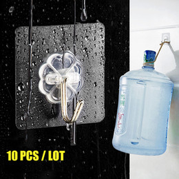$enCountryForm.capitalKeyWord Australia - 10 Pcs  Lot Clear Wall Hanger Waterproof Oilproof Strong Sticking Wall Hanger Kitchen Bathroom Self Hooks Stick