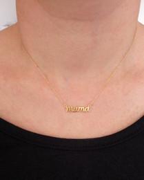 Necklaces Pendants Australia - 30pcs English alphabet initials mama mom mother Mothers pendant Necklace Mother's Day Necklace Mama Necklace Mothers Day Gift jewelry