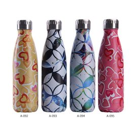 Wholesale New stainless steel creative Coke bottle Sports and leisure water glass Fashion marble trend vacuum flask
