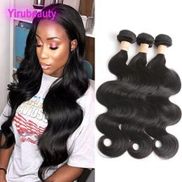 Discount 22 24 26 inch hair bundles - Brazilian Human Hair Long Inch 3 Bundles Body Wave Double Hair Wefts 30-40 Inch Virgin Hair Body Wave