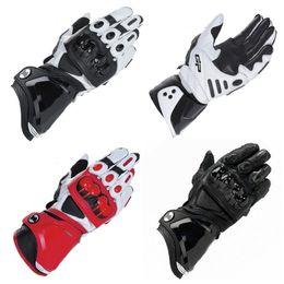 Leather Gloves Long Finger Men Australia - motorcycle riding racing gloves guantes motocicleta motorcycle gant moto Motorbike leather long luva motociclista Full Finger