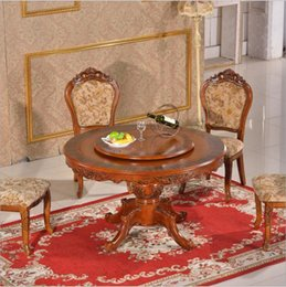 Italian Style Tables Australia - Antique Style Italian Dining Table, 100% Solid Wood Italy Style Luxury marble Dining Table Set o1127