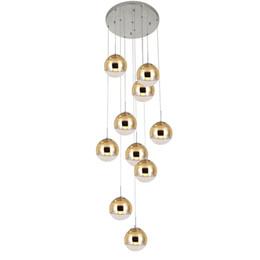 $enCountryForm.capitalKeyWord Australia - Spiral Staircase Lighting Long Pendant Lamp Living Room Glass Ball Pendant Lights Dining Room Hanging Lamp Lights Linear Ceiling Lights