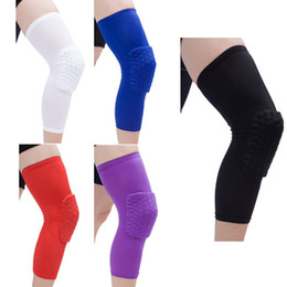 Youth Kids Clothing Honeycomb Sock Sports Safety Basketball Kneepad Padded Knee Brace Compression Knee Sleeve Protector Knee Pads XZT045 on Sale