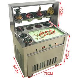 CE aprovado máquina de sorvete frito / sorveteira 220 V 1600 W rolo de sorvete frito / todos os tipos de em Promoção