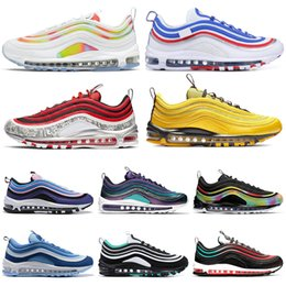 RubbeR tied online shopping - 2020 Men Running Shoes Tie Dye Throwback Future NEON SEOUL Triple Black White Bright Citron Women Mens Trainer Sports Sneakers