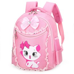 $enCountryForm.capitalKeyWord Australia - Children Backpack Portfolio School Bags For Girls Sweet Cute Cartoon Princess Cat Kids Lace Bookbag Primary School Backpack #ZX