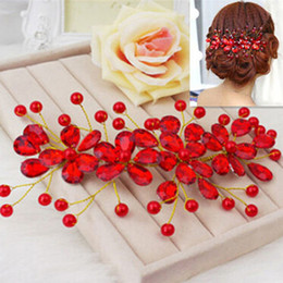 products red Australia - New Product Women's Red Flower Wedding Bridal Party Accessary Handmade Hair Pin Clip Jewelry