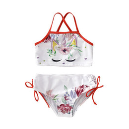5e9d2ec383174 New Baby Girls unicorn swimsuit Fashion Summer Kids Cartoon Sexy Bikini  swimwear Cute Flower Printed Children spa bathing suit Y2405