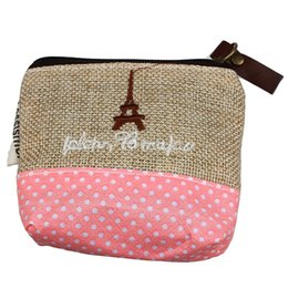 small zip wallet Australia - Canvas Line Zip Coin Purse Small Wallet Girls Coin Case Bag Handbag Key Bags For Women Bags Casual Handbags Drop Ship#H15