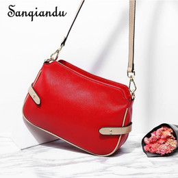 Genuine Leather Snakeskin NZ - Summer Bags For Women Mini Crossbody Bag Genuine Leather Red Bag Lady Small Flap Shoulder Messenger Bags For Teenager Girls
