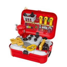 $enCountryForm.capitalKeyWord UK - Kitchen Utensils Toys Set Children giftVarious Kids Imitation Kit Toy Bag Pretend Play Children Educational Toy
