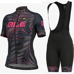 $enCountryForm.capitalKeyWord UK - Cycling jersey ALE new women bicycle short sleeve bib shorts sets Mtb bike racing sportswear cycling breathable clothing