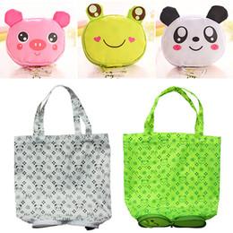 foldable cute eco bag 2019 - Cute Animal Shape Folding Shopping Bag Eco Friendly Ladies Gift Foldable Reusable Tote Bag Portable Travel Shoulder Bag#