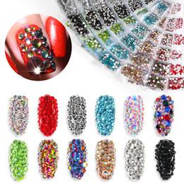 Tamax 1300 pcs Cristal Brillant Nail Art Strass Decorashion Diamant pour Ongles Conseils Manucure Ongles Bijoux Pierres Accessoires