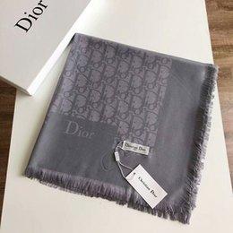 $enCountryForm.capitalKeyWord Australia - brand wholesale luxury designer scarf soft Cotton yarn-dyed jacquard monogram shawl large size 140*140cm