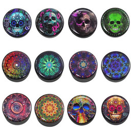 Aluminum flower online shopping - Aluminum Alloy Flower Ghost Head Grinder Piece CNC Glued Pictures Tobacco Herbal Spice Herb Grinder Diameter mm Height mm