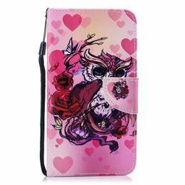 Smart Card Wallet UK - Leather Wallet Case For Huawei P30 Nova 4 Mate 20 Pro Y9 P Smart 2019 Galaxy S10 Lite A9 Flamingo Butterfly Dreamcatcher Wolf Flip Covers