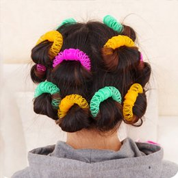 $enCountryForm.capitalKeyWord UK - 8Pcs Hair Styling Donuts Hair Styling Roller Hairdress Plastic Bendy Soft Curler Spiral Curls Rollers DIY Hair Styling Tools