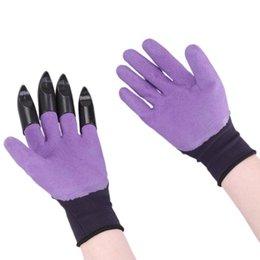1 paio guanti da giardino 4 mano sinistra artiglio punta delle dita guanti in plastica ABS scavo rapido impianto per la famiglia serra di scavo impianto