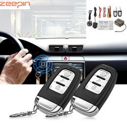 $enCountryForm.capitalKeyWord Australia - Universal 12V Car Anti-theft Device Vibration Alarm One Key Startup Lock Remote Central Kit Auto Burglar Alarm Security System