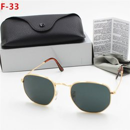 sun glasses NZ - 1pc New Excellence Fashion Retro Metal Sunglasses Round Sun Glasses Eyewear For Man Woman Gold black Glass 51 mm Lenses With Better Cases